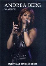Andrea Berg Songbuch Songbook Noten für Klavier Gitarre Keyboard Gesang