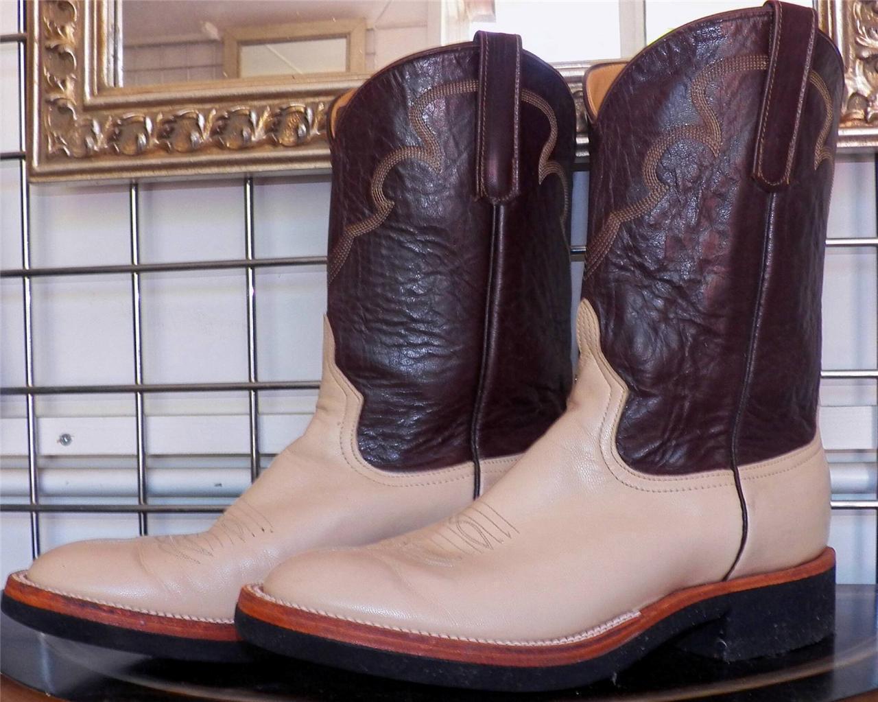 Anderson Anderson Anderson Bean Sand Ziegenleder Roper Kreppsohle Cowboy Stiefel 9990cb