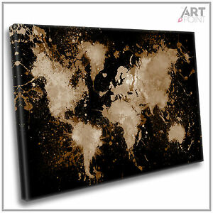 World map canvas print abstract paint splash framed wall art picture image is loading world map canvas print abstract paint splash framed gumiabroncs Choice Image