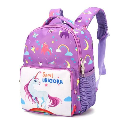 Children Girls Plush Unicorn Backpack Rucksack School Travel Bags UK Trend