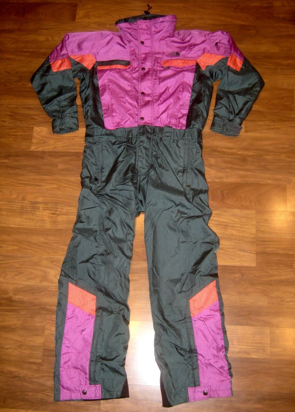 Vtg 80s 90s THE NORTH FACE Gore Tex SMALL  One piece SKI SUIT Snow Bib Snowsuit S  general high quality