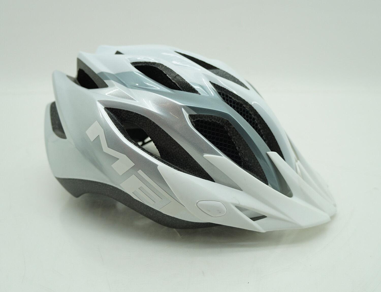 MET Fahrradhelm Mountainbikehelm Kopfschutz Helm white silver verstellbar