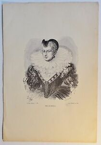 Marie-de-Medicis-Holzstich-ca-1880
