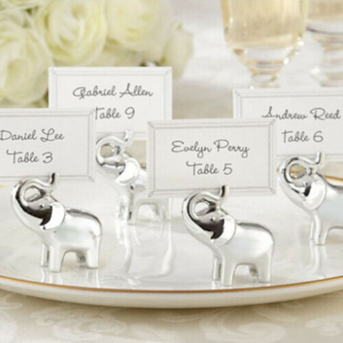 Golden Elephant Place Card Holders Photo Name Clip Holders  Party Favors LP
