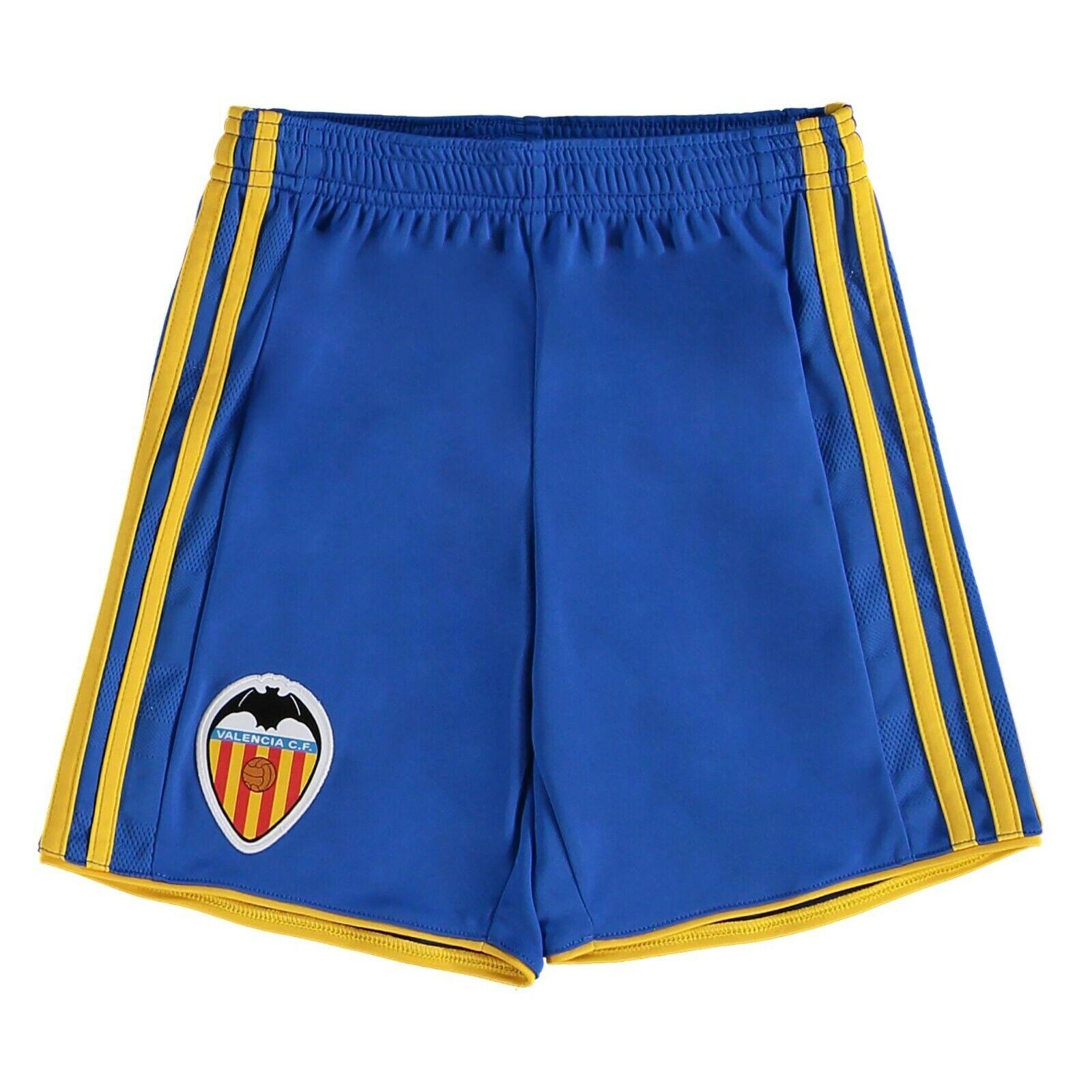 Valencia adidas Men's 2017-18 Away Football Shorts - Blue - New