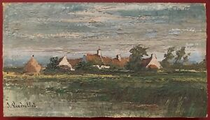 Unknown-Artist-discover-signature-illegible-oil-panel-signed-brittany