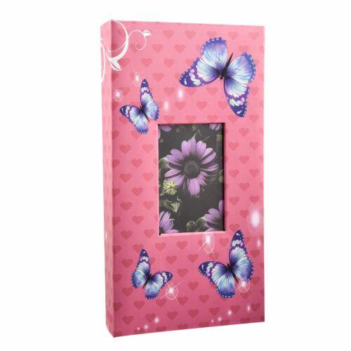Arpan 6'x4' Designer álbum de fotos con 300 bolsillos rosa-Mariposa AL-9814