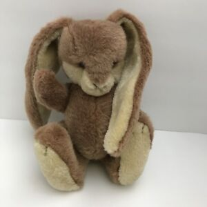 Jointed-Stuffed-Lop-Ears-10-Bunny-Rabbit-Plastic-Brown-Eyes