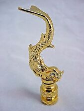 SOLID BRASS  SEA  SERPENT  ELECTRIC  LIGHTING  LAMP  SHADE  FINIAL      (NEW)