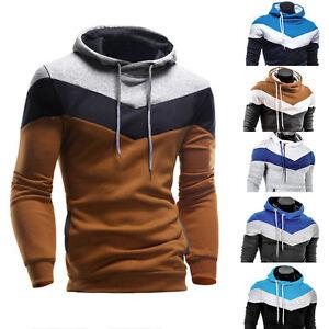 Stylish-Men-039-s-Winter-Hoodie-Warm-Hooded-Sweatshirt-Coat-Jacket-Outwear-Sweater