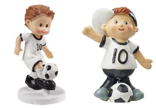 1 DEKOFIGUR Steinharz HOBBYFUN Tischdeko Kinder FUSSBALL Soccer FUßBALL