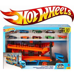 Hot Wheels Hauler Truck Transporter Truck + 10 Die Cast Cars FREEPOST Hotwheels