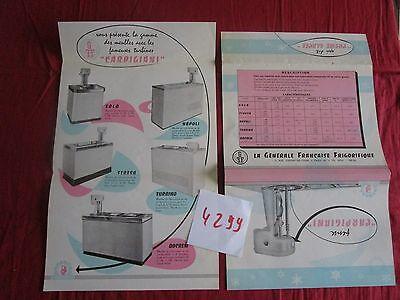 Carpigiani Dépliant Meubles Fabrication De La Créme Glacée Fine Craftsmanship Collectibles N°4299