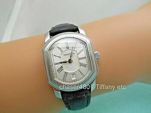 Tiffany-amp-Co-Atlas-Mark-Coupe-Resonator-Ladies-Date-Watch-SS-Guilloche