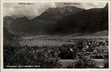 Pfronten Ried Heitlern Dorf s/w AK 1957 Gesamtansicht mit Schlirke und Rossberg