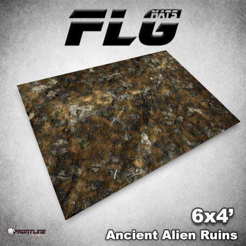 Esteras  antiguas ruinas Alien FLG 6x4' Estera de juegos de mesa de alta calidad de neopreno