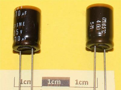 Lot de 5 Samsung USL Radial condensateur électrolytique 470µF 10 V 85 ° C