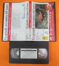 VHS film LA GRANDE AVVENTURA DEL MARE Jacques Cousteau Pesce Giona (F192)no dvd