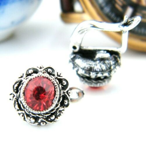 classic diamond cut style crystal earrings multiple choices