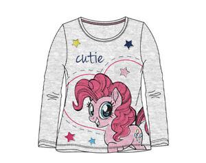 My-Little-Pony-Langarmshirt-Maedchen-Pullover-Gr-98-104-110-116-128-Grau-Neu