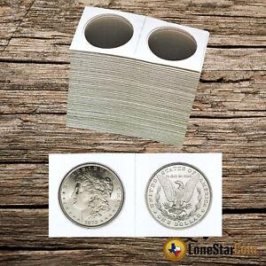 100 2x2 Half Dollar Size Cardboard Coin Holders Flips