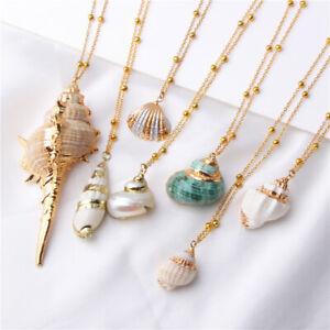 Fashion Women Shell Cowrie Beach Sea Pendant Choker Gold Chain Necklace Jewelry Ebay