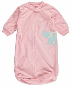 Pink Polka Dot Elephant Clothing, Shoes & Accessories Sincere Carter's Baby Girls' Fleece Sleepbag Sleep Sack Sleepwear