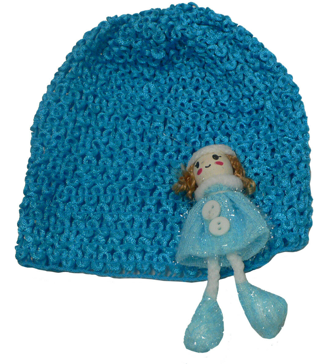 lla Toddler/'s Stretchy Knitted Bonnet Hat with Sweetheart Aplique U16250-6411