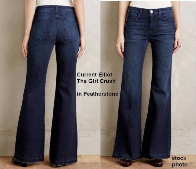 Current/elliott Woman High-rise Kick-flare Jeans Midnight Blue Size 32 Current Elliott Cheap Sale Pick A Best Free Shipping Footlocker jgt56