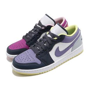 Nike Wmns Air Jordan 1 Low SE Mismatched Purple Magenta White Women DJ4342-400