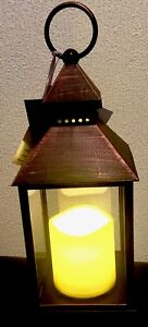 Black-copper-LED-Lanterns-Flickering-Effect-Christmas-Or-Occasions