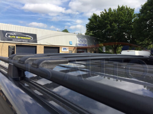Mercedes Vito Viano W639 Bloqueable barras CRUZADAS TECHO NEGRO RACK 90 kg capacidad x3