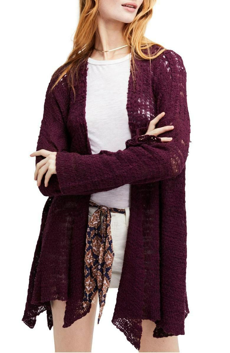Free People Women S Plum In My Element Kimono Cardigan MSRP  128