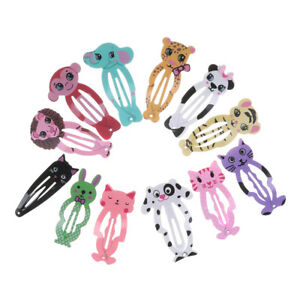 6x-Fashion-Girl-animal-coiffure-cheveux-barrettes-clips-Snap-clip