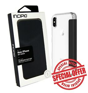newest e5ab3 47af7 Details about Incipio Griffin iPhone X / XS Folio Case Cover Wallet 10 10s  S Clear/Black