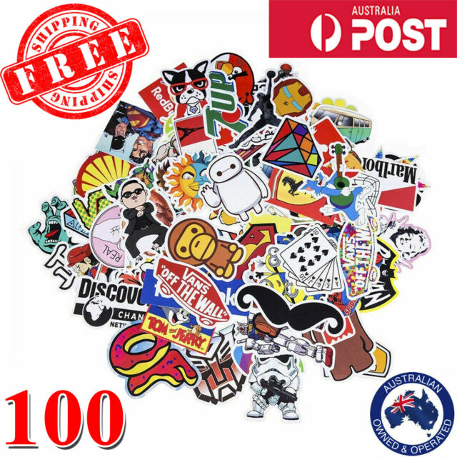 100 Random Cool Vinyl Decal Graffiti Stickers Car Bomb Laptop Waterproof Skate