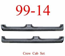 09 14 Crew Cab Extended Rocker Set, Panel OEM Type, Ford F150 Truck, Both L&R