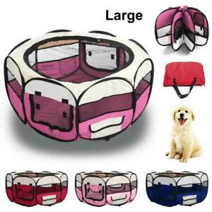 Foldable-Pet-Exercise-Kennel-Soft-Fabric-Dog-Run-Puppy-Cat-Playpen-Cage