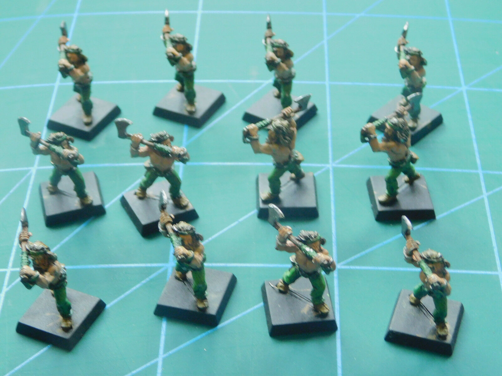 12 warhammer 40k dungeon dragons warrior soldier fighter metal figures
