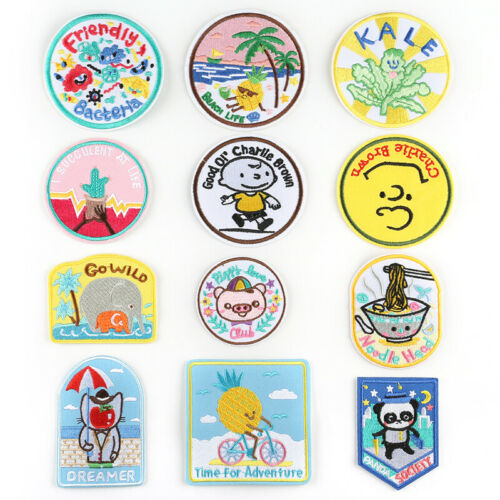 DIY 1 Bag Lots Pattern Embroidered Patches Iron Sew On Patches Badges Appliques