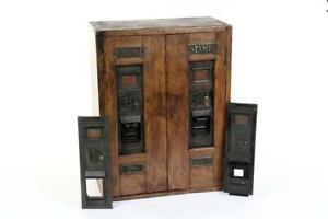 """Vintage ~ c1920 ~ """"H. T. A. Ltd."""" """"Postage Stamps"""" Double Vending Machine  #2281"""