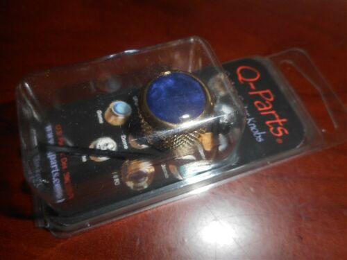 KGD-0060 BLUE PEARL ON GOLD Q-Parts Dome Knob NEW