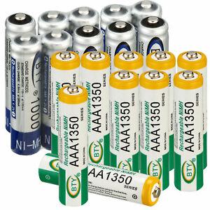 AAA-1000-1350mAh-AA-2500-3000mAh-Rechargeable-Battery-2A-3A-NiMH-RC-Batteries