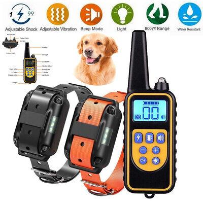 1 Drive 2 1000M Pet Dog Training Collars Eectric Shock Collar Remote Control USA