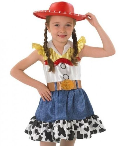 Girls Disney Jessie Toy Story Cowgirl Book Day Fancy Dress Costume Outfit 3-10yr