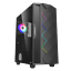GameMax-ATX-Mid-Tower-A361-Gaming-PC-Desktop-Computer-Case-w-RGB-LED-Fan miniature 1