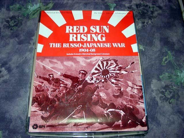 SPI - Simulations Publications - rot SUN RISING   Russo-Japanese War (Punched)