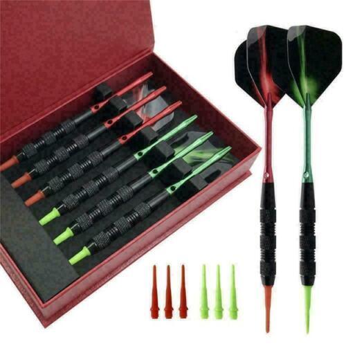 6stk//satz 18g Rändel Design Schwarz Professionelle Set Darts Soft mit X Tip