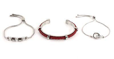 Guess Bracelet Set Silver Eccellente Nell'Effetto Cuscino