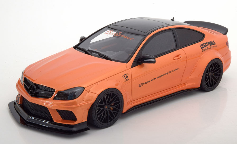 Gt Spirit 2017 Mercedes Benz C63 Coupe W204 Liberté Promener Orange Met Le